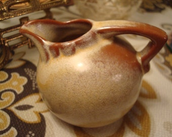 Vintage Frankoma Miniature Golden Desert Ball Jug, Pitcher, Creamer - # 553 - Excellent Condition!!
