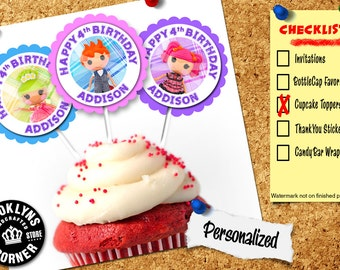 Lalaloopsy Party - (12) Personalized Cupcake Toppers