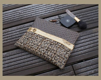"flat clutch in faux leather ""naturally beautiful"""