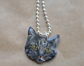 Custom Pet Portraits - Necklace, Shrink Plastic, Hand Drawn, Birthday Gift, Personalized Accessories, Illustrated Jewellery, Pet Memorial