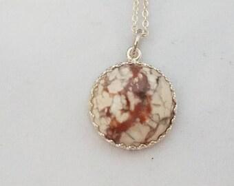 Burro Creek agate necklace