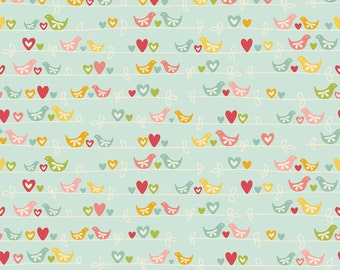 One Yard of Sweetest Bird in Blue from The Sweetest Thing by Zoe Pearn