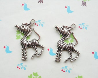 20pcs of Antique silver  Donkey Mule Pendants Charms 30x40mm zebra charm