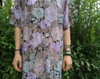 Vintage Floral woman shirt