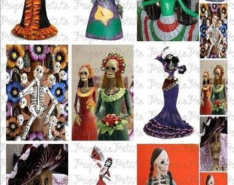Day of the Dead Digital Download Collage Sheet B 3.5 x 2.25 inch