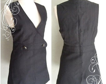 50% On May Vintage 60's Solid black mini dress size 8 or 10