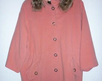 Atos Lombardini luxurious cashmere wool pink coat   amazing vintage bubblegum pink   fur (mink) collar