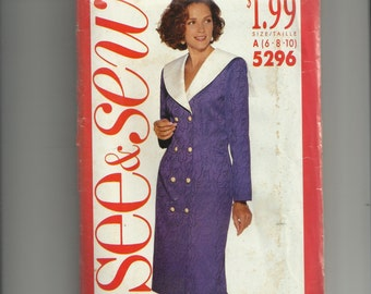 Vintage Butterick Misses' Dress Pattern 5296