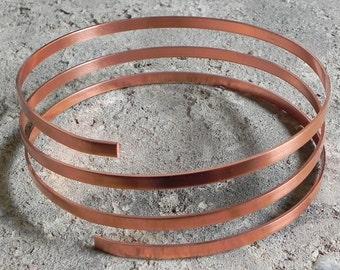 Kupferband weich - 5 mm x 1,2 mm - 1 Meter