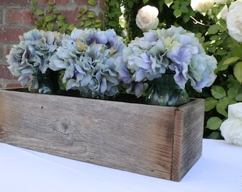 Rustic Wedding Centerpiece Box Made from 100% Reclaimed Wood - Medium Size