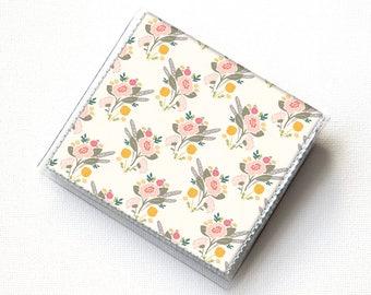 Vinyl Moo Square Card Holder - Flora Bouquets / case, vinyl, snap, wallet, mini card case, moo case, square, floral, flowers, small, vegan