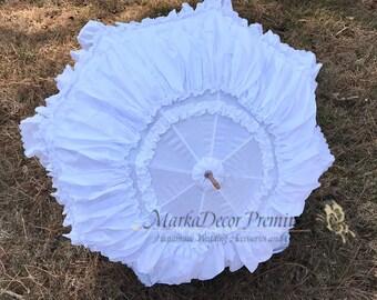 Large Wedding Parasol Bridal Umbrella with Multi Layers of Gorgeous Fabric 1pc