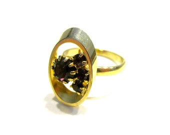 Vintage Purple Stone Ring Size Adjustable 8 Ring Gift for Her Gift for Mom Under 10 Jewelry Gift Idea