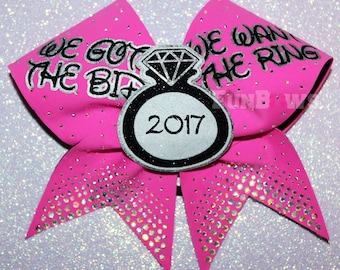 Awesome We Got the Bid 3-D Ring Allstar Cheer bow by FunBows !
