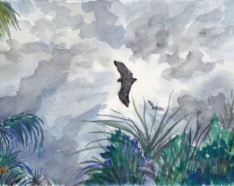 Original Watercolor Landscape Australia
