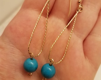 Turquoise earring 14K Gold Filled