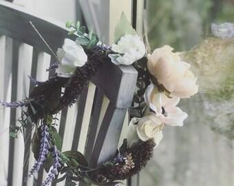 Flower crown, boho flower crown, boho bride, bridal crown, wedding, wedding accessories, bridesmaid, flowergirl, flower girl, rustic