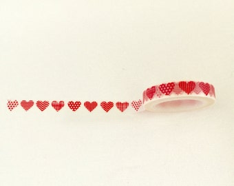 Red Heart Washi Tape