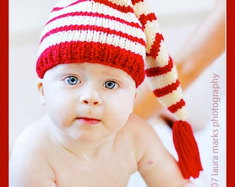 Knitting Pattern Tutorial: Baby Hat / Stocking Cap / Pixie Hat / Elf Hat
