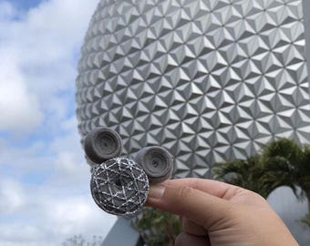 Disney Mickey Mouse Epcot Hair Clip - Spaceship Earth