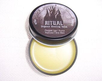RITUAL: Organic Herbal Healing Balm with Sage, Calendula, Propolis infused beeswax