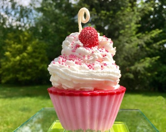 Cupcake Candle-Valentines Day candle-scented candle-gifts for her