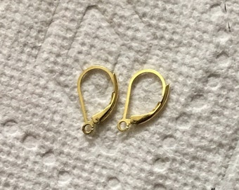 Vermeil sterling silver lever back