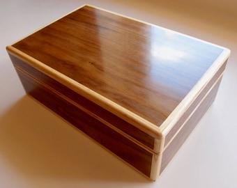 Wooden jewellery trinket keepsake box