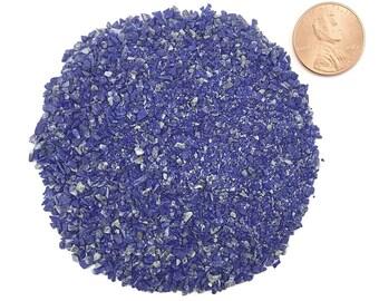 Crushed, Grade A, Lapis Lazuli, Stone Inlay, Medium, 1/2 Ounce