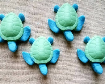 One dozen Baby sea turtles chocolate party favors gifts for baby shower, gender reveals, birthday parties