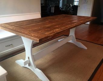 Trestle Farmhouse Table: The Inner Harbor