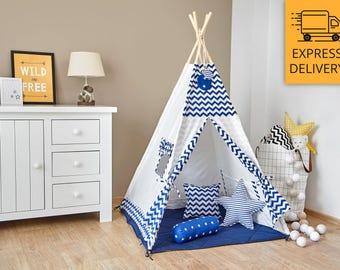 Tipi Set - Kids Play Tent Teepee - Adventurous Marinero