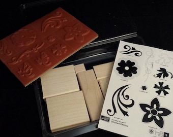 "Stampin' Up ""Two-Step Stampin' Stitched Exotics"" NEW Stamp Set"