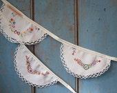 Vintage Linen Bunting