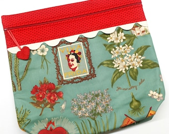 MORE2LUV Viva Frida Cross Stitch Embroidery Project Bag
