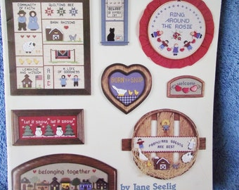 Easy Cross Stitch Proects for WOOD SHAPES - American School Of Needlecraft