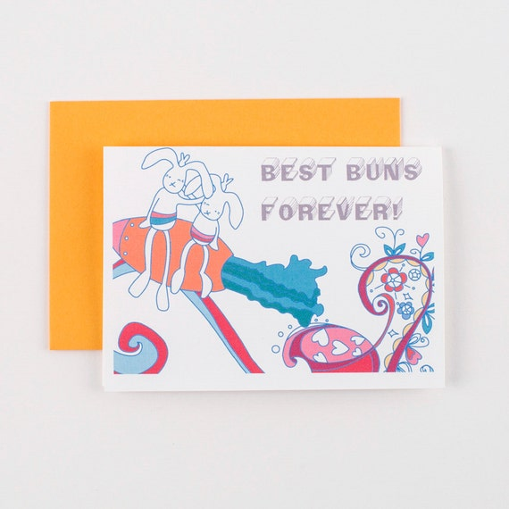 Best Buns Forever BFF Easter Friendship Greeting Card