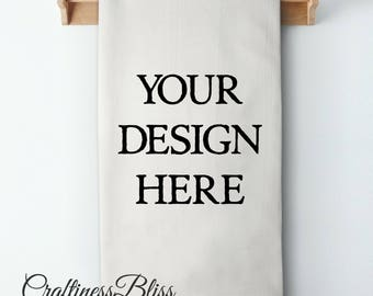 Create and Personalize Your Own Design Sack Kitchen Dish Towel Tea Towel Cottage Chic Rustic Decor