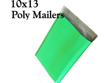 25 Green Poly Mailers/Size:10x13/Packing Supplies/Mailing Supplies/Peel & Seal