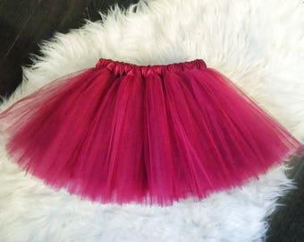 Tango Red Tutu, Baby Girl red Tutu, Smash Cake Tutu, Infant Tutu, First Birthday, Tutu Skirt, Birthday Outfit, Toddler Tutu, burgundy tutu