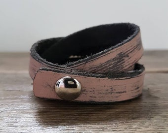 Wrap leather bracelet. Leather wrap bracelet.