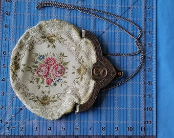Vintage Carpetbags Of America Tapestry Rhinestone Purse