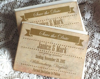 Wedding or Anniversary Save the Date Cards Handmade by avintageobsession on etsy