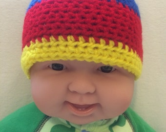 Child's Primary Color Beanie