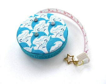 Tape Measure Ocean Dolphins Pocket Retractable Measuring Tape