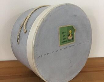 40s 50s Vintage Gimbels Department Store Hat Box