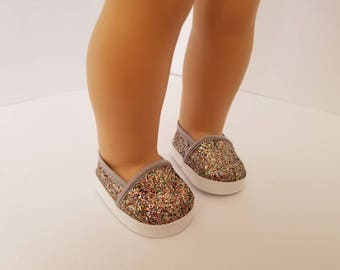 "Sparkle glitter shoes for 18"" Doll, American Girl doll"