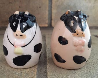 Adorable Cow Salt and Pepper Shakers