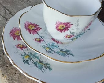 Royal Dover China. Bone China. Made in England teacup and saucer set with plate