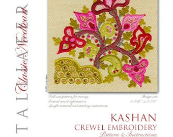 """Talliaferro's """"Kashan"""" crewel embroidery kit"""